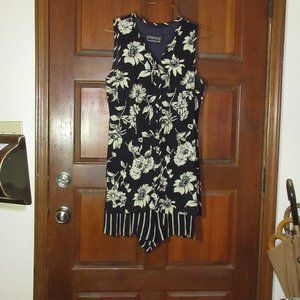 Layered Floral Jumper Dress Size 10 ED MICHAELS